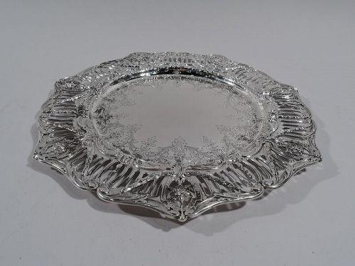 Graff Washbourne & Dunn Edwardian Regency Sterling Silver Dinner Plate