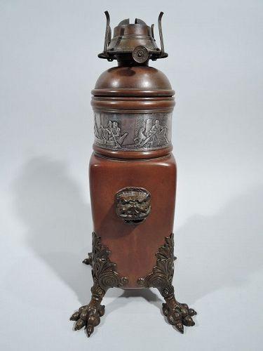 Antique Gorham Japonesque Mixed Metal Copper Lamp Base 1882