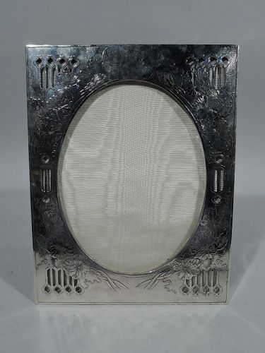 Beautiful Unger Art Nouveau Sterling Silver Picture Frame