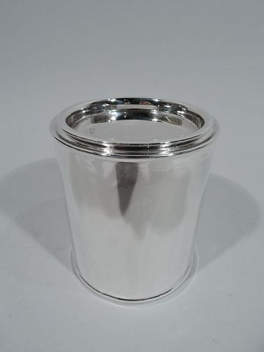 Antique English Victorian Sterling Silver Canister Tea Caddy 1898