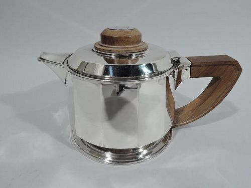 Jean Puiforcat Super Stylish French Art Deco Silver Teapot