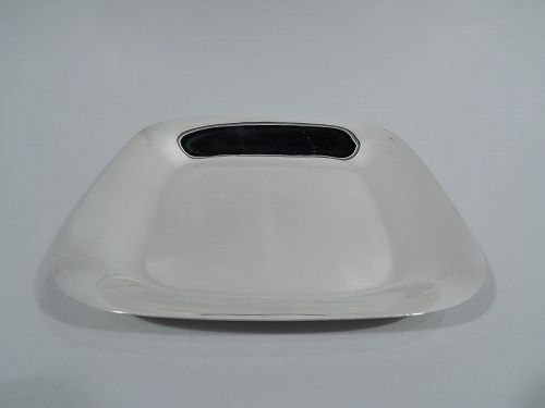 Tiffany Midcentury Modern Sterling Silver Square Bowl