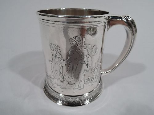 Antique Whiting Edwardian Art Nouveau Sterling Silver Baby Cup