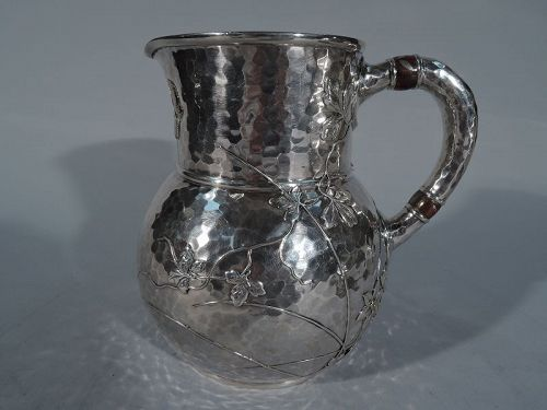 Tiffany Mixed Metal & Hand Hammered Sterling Silver Water Pitcher