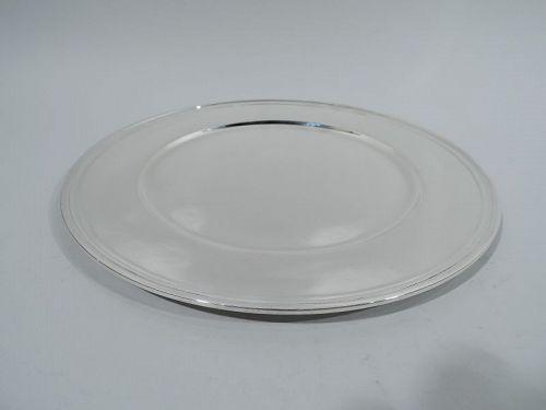 Tiffany Art Deco Sterling Silver Dinner Plate
