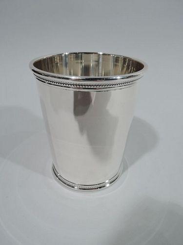 Rare JFK-Era Sterling Silver Mint Julep Cup by Scearce of Kentucky