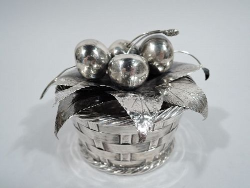 Mario Buccellati Sterling Silver Country Chic Cherry Fruit Basket