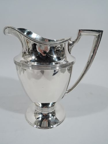 Classic Tiffany American Modern Sterling Silver Water Pitcher