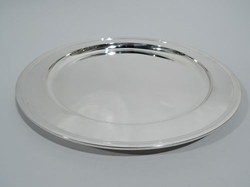 Tiffany Deep and Heavy Sterling Silver 13-Inch Round Tray