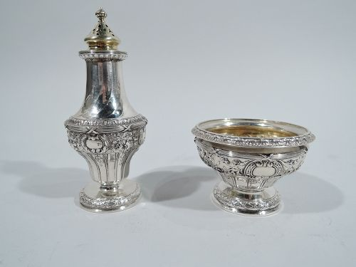 Antique Gorham French Classical Sterling Silver Salt & Pepper
