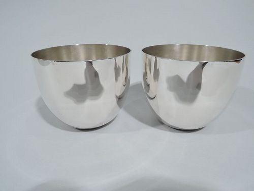 Pair of Stieff American Sterling Silver Jefferson Cups