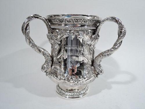 Antique Gorham Loving Cup Wine Cooler with Mardi Gras Presentation