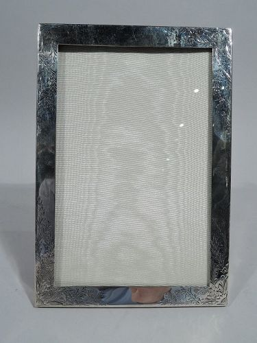 Antique American Edwardian Regency Sterling Silver Picture Frame