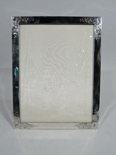 Antique American Edwardian Art Nouveau Sterling Silver Picture Frame