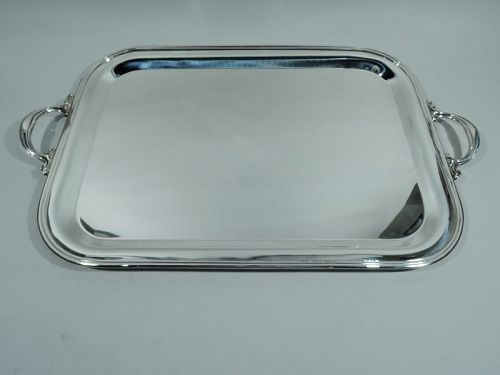 Italian Modern Sterling Silver Serving Tray by Pampaloni