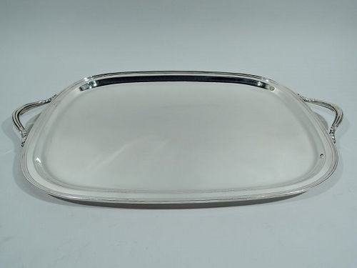 American Modern Sterling Silver Serving Tray C 1930