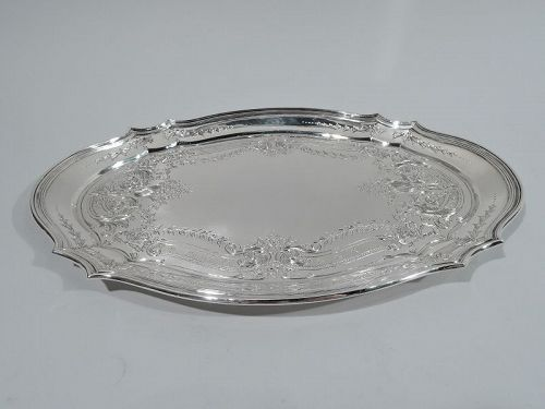 Antique Tiffany Edwardian Art Nouveau Sterling Silver Vanity Tray