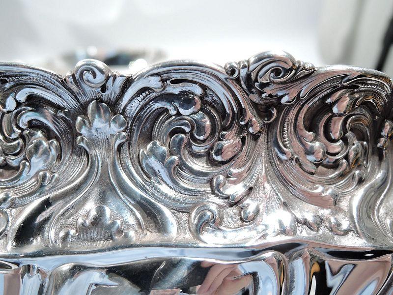 Sumptuous Antique Tiffany Sterling Silver Centerpiece Flower Bowl