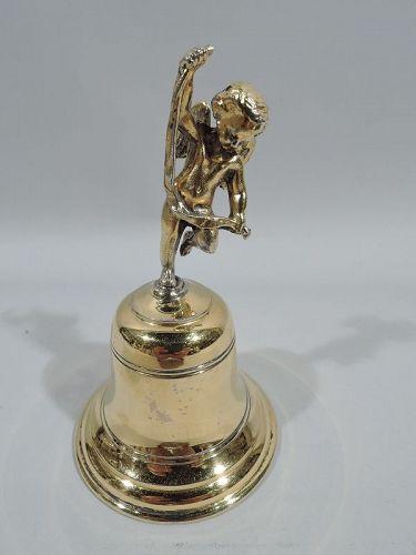 Tiffany American Rococo Silver Gilt Bell