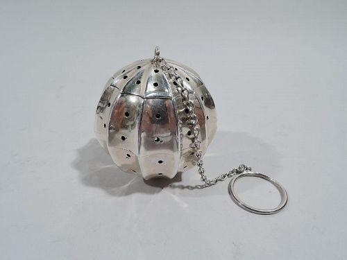 Antique American Art Deco Sterling Silver Tea Ball