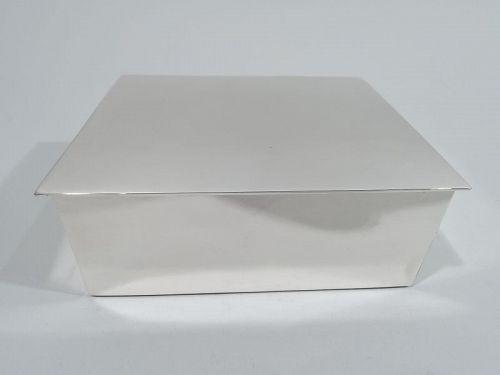 Tiffany Midcentury Modern Sterling Silver Box