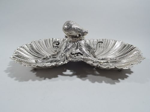 Buccellati Dramatic Sterling Silver Octopus Seafood Shell Bowl