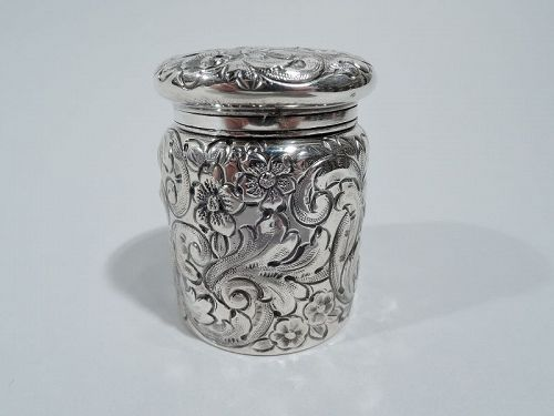 Antique Philadelphia Sterling Silver Travelling Inkwell
