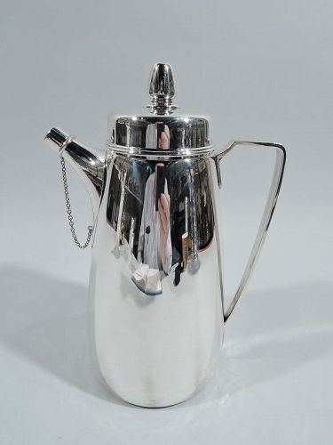 Super Snazzy Tiffany Art Deco Sterling Silver Cocktail Shaker