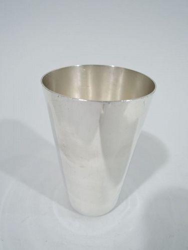 Tiffany Edwardian Modern Sterling Silver Beaker