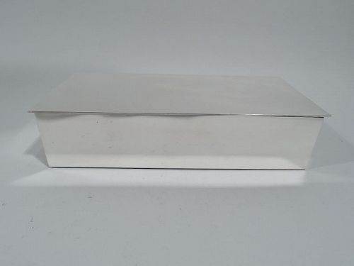 Smart & Modern American Sterling Silver Desk Box by Tiffany