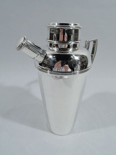 English Art Deco Sterling Silver Cocktail Shaker by Mappin & Webb 1927