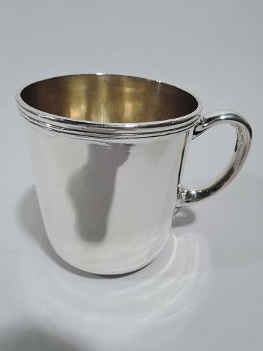 Antique American Classical Sterling Silver Baby Cup by Tiffany