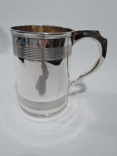 Large English Georgian Sterling Silver Mug 1801