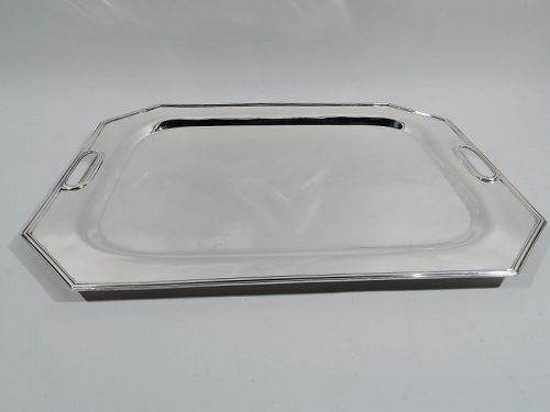 Antique American Art Deco Sterling Silver Serving Tray