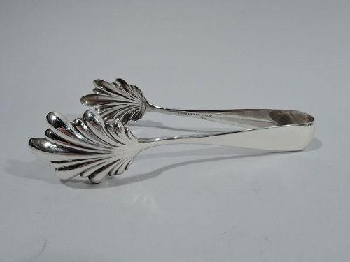 Kirk American Art Deco Sterling Silver Ice Tongs