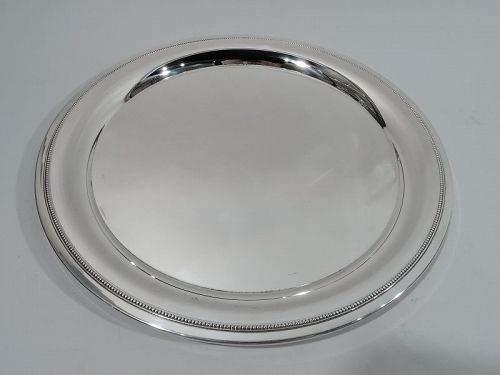 Tiffany Midcentury Modern Classical Sterling Silver Beaded Tray
