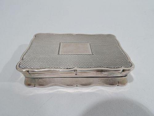 Innovative English Sterling Silver Snuffbox-Cum-Portable Ashtray