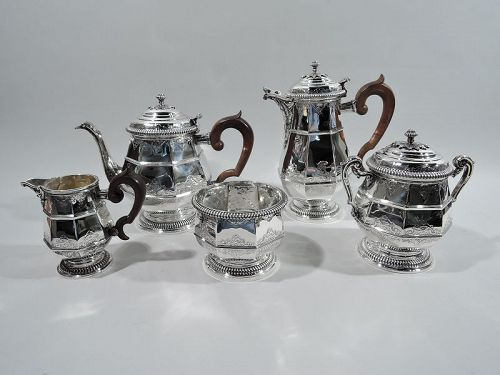 French Belle Epoque Silver Coffee & Tea Set by Puiforcat for Tiffany