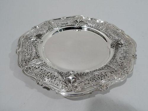 Small Antique Shreve Adam Sterling Silver Edwardian Regency Plate