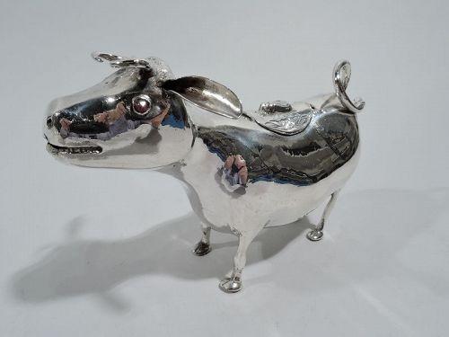 Antique German Silver Cow Creamer