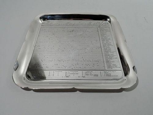 Gorham Midcentury Modern Sterling Silver Mixed Drinks Bar Tray