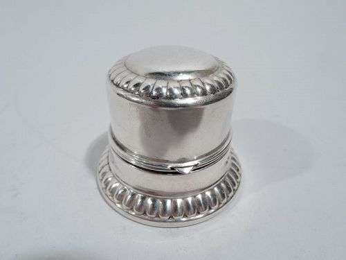 Birks Classical Sterling Silver Jewelry Ring Box