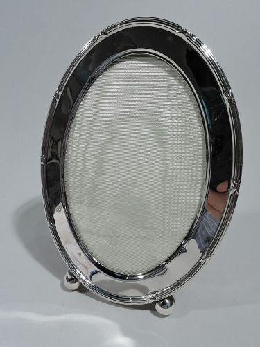 Antique Gorham Edwardian Sterling Silver Oval Picture Frame