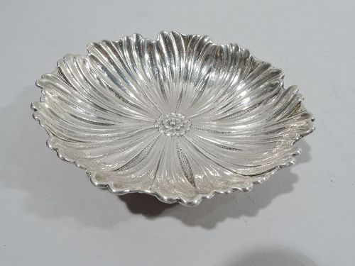 Italian Sterling Silver Flower Blossom Bowl by Gianmaria Buccellati