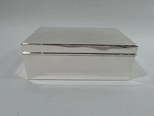 Large Tiffany Modern Sterling Silver Cigar Box