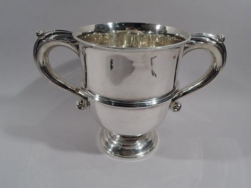 Antique English Victorian Classical Sterling Silver Trophy Cup 1896