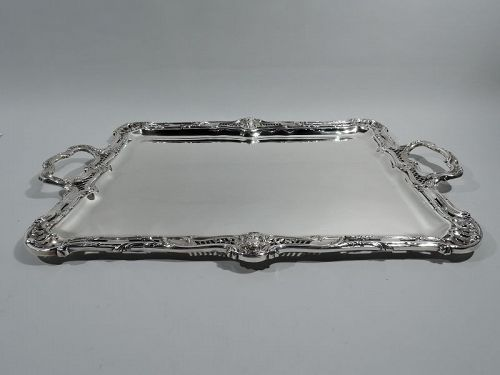 Antique French Belle Epoque Classical Silver Tray by Emile Puiforcat