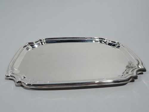 Small Modern Georgian Sterling Silver Tray by Poole