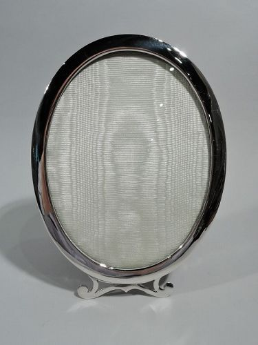 Birks Modern Classical Sterling Silver Oval Picture Frame