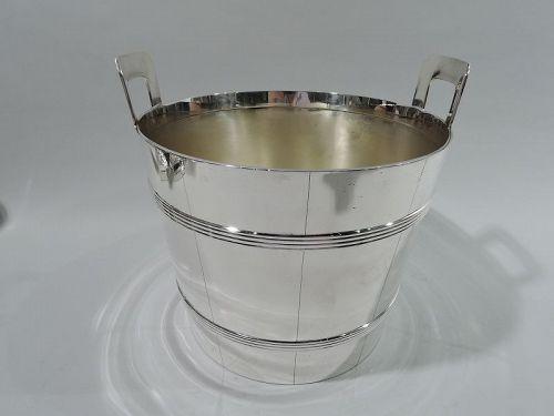 Tiffany Midcentury Sterling Silver Barrel Ice Bucket